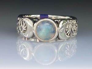 Crescent-Triple-blue-Moon-Gem-Stone-Sterling-Silver-Ring-Peter-Stone-Jewelry
