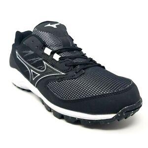 Mizuno Dominant AS Baseball Shoes Black White Mens Size 7 11GT185109 NIB New