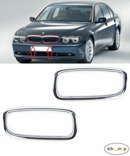 DESTRA BMW 7 E65 2002-2005 NUOVO GRIGLIA RADIATORE ANTERIORE SUPERIORE CORNICE CROMATA SINISTRA