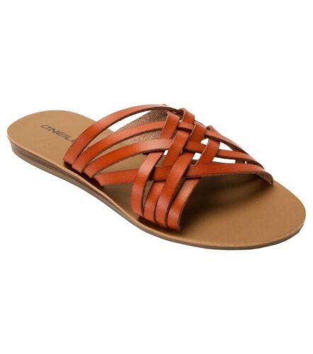 Women/'s O/'Neill Sienna Flip Flops Sandals Cognac Brown Size 9