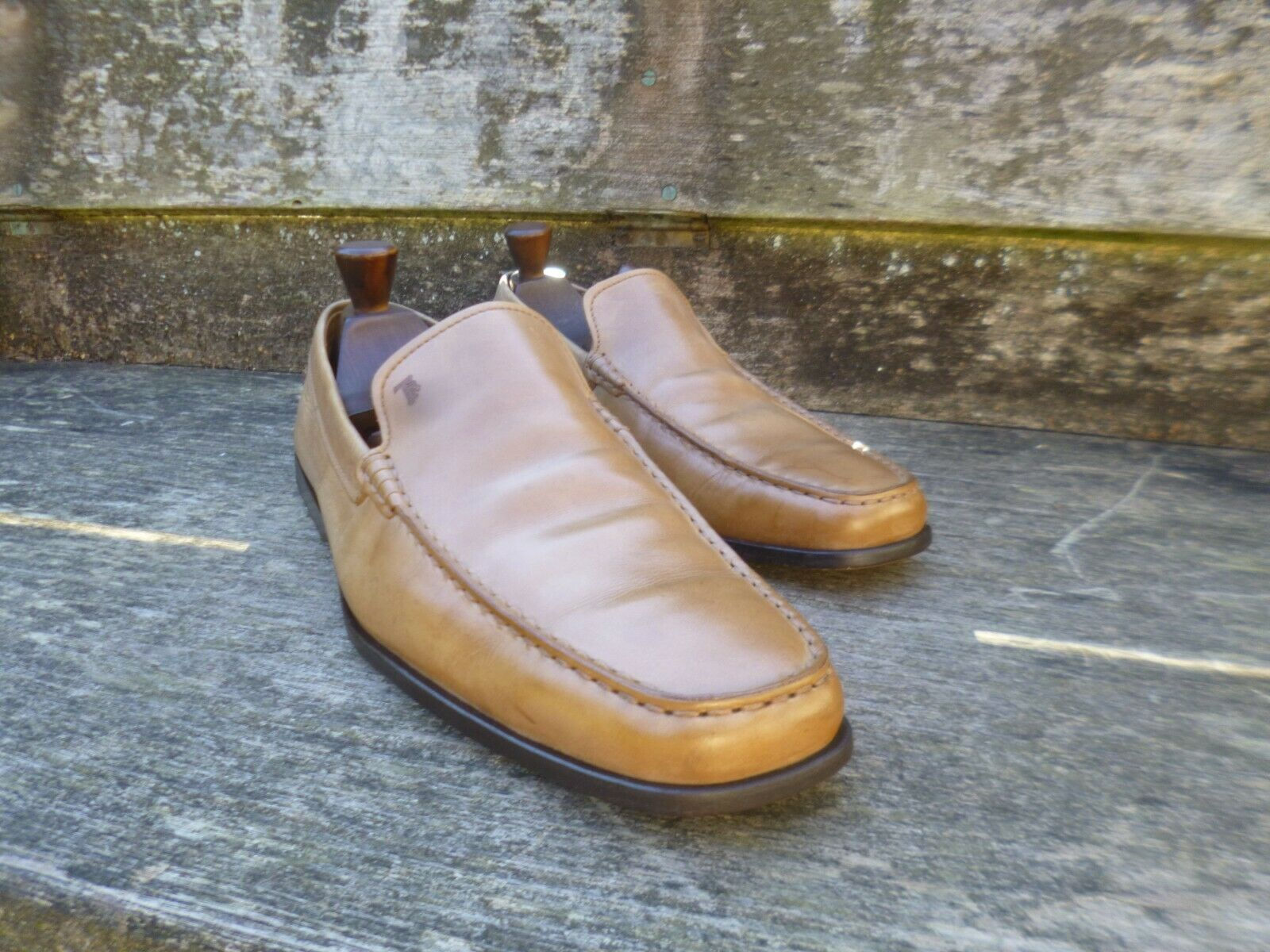 TOD'S LOAFERS – BROWN   TAN CALF – UK 11 – VERY GOOD CONDITION