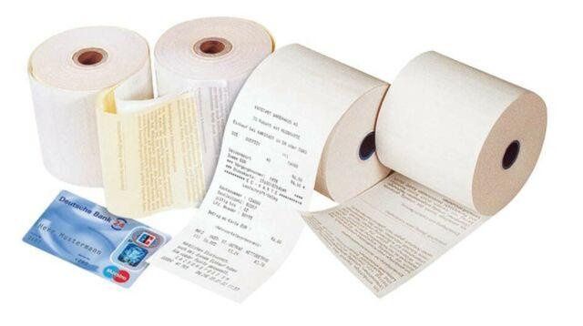 Veit 20989022 Additions- und Kassenrollen, 2-fach, weiß/gelb, 57x54x12 mm, 18 m
