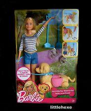 Barbie Hundespaziergang, Barbie & Hündchen, Hund kann laufen DWJ68 NEU/OVP