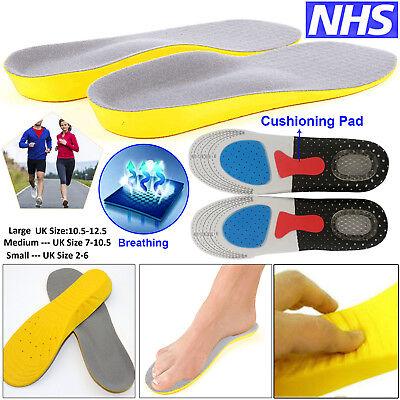 Memory Foam UNISEX Orthopaedic Shoe INSOLES PADS TRAINER Foot Comfort Heel CA