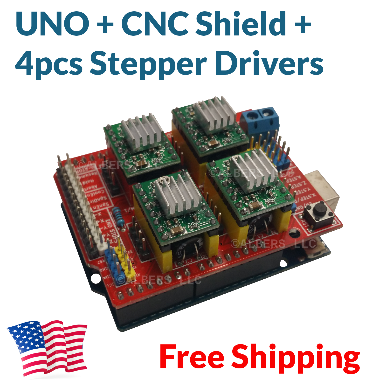 Details about Arduino CNC Shield Kit - UNO Board + 4x A4988 Drivers Package  Deal FREE USA SHIP