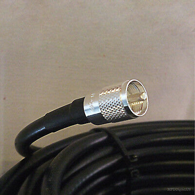 25 ft LMR 240 Solid  Coaxial Cable Assembly W 2 PL-259s Ham CB 2 Way Scanner