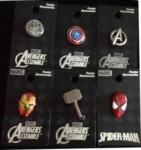 AVENGERS-lapel-pin-charm-Thor-Cpt-America-Iron-Man-Shield-Spiderman-Marvel-pins