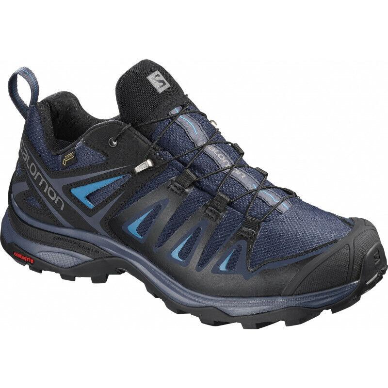 Womens Salomon X Ultra 3 Gtx Womens Walking Sneakers Casual Runners shoes - Navy