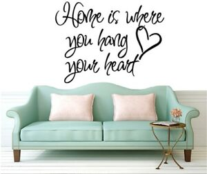 Home-Wall-stickers-Quotes-Art-Decalcomanie-Chambre-Amovible-Salle-de-Sejour