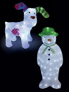034-The-Snowman-Snowdog-034-Acrylic-Light-Up-LED-Indoor-Outdoor-Garden-Decoration-Xmas
