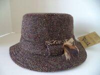 Hanna Walking Hat Brown Speckled Tweed Irish Donegal