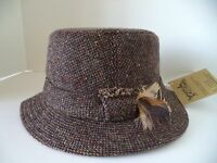 Hanna Walking Hat Brown Speckled Tweed Irish Donegal