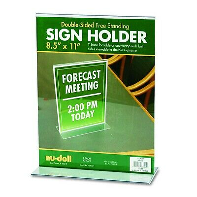 NUDELL 38011 Sign Holder,Wall,8-1//2x11,Acrylic,Clear