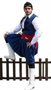 ofera reduceri mărci de top într-adevăr confortabil Greek Traditional Costume Cretan Blue S-XL Men Man Kritikos ...