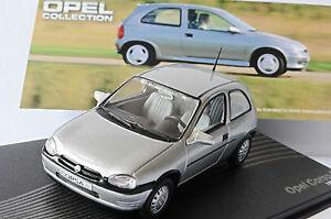 OPEL-CORSA-B-1-2-SILVER-1993-2000-IXO-ALTAYA-1-43-LEFT-HAND-DRIVE-LHD-SILBER