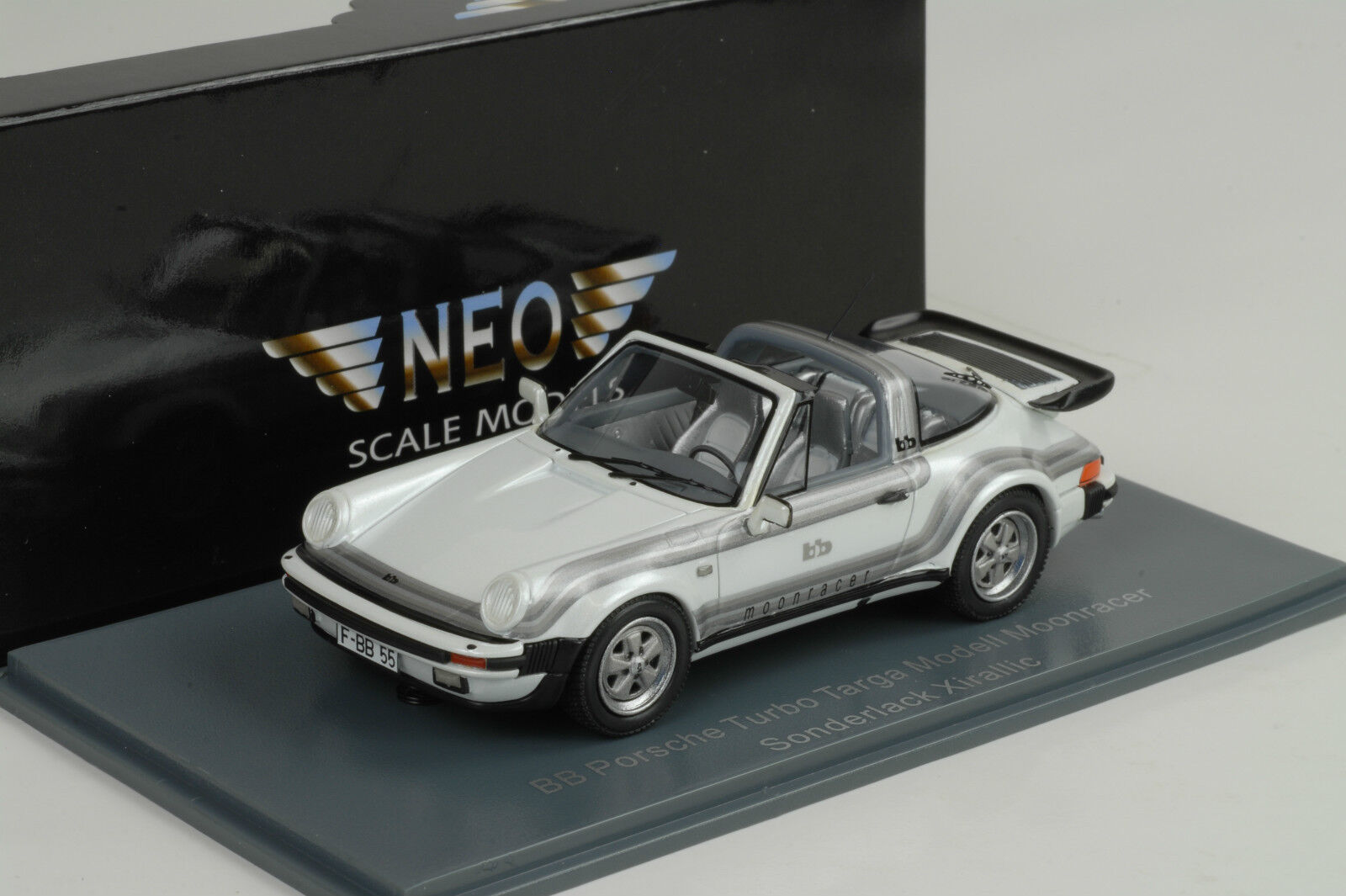 1982 PORSCHE 930 Turbo Targa B & B moonracer bianca BIANCO METALLIZZATO 1 43 NEO