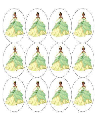 "12x 2/""x 3/"" Ovale Princesse Tiana et la Grenouille Comestible Fondant//Gaufre Cupcake Topper"