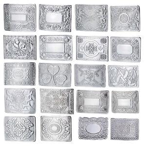 MEN-039-S-SCOTTISH-KILT-BELT-BUCKLES-CELTIC-DESIGNS-CHROME-BUCKLES