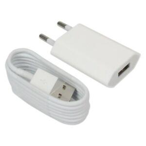 Detalles de 1 CARGADOR USB + 1 CABLE PARA IPHONE 6 6S 7 8 PLUS X XS MAX XR IPAD