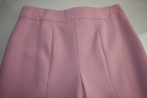$795 NEW ESCADA Tina Virgin Wool Straight Leg Pants French Rose Pink 36
