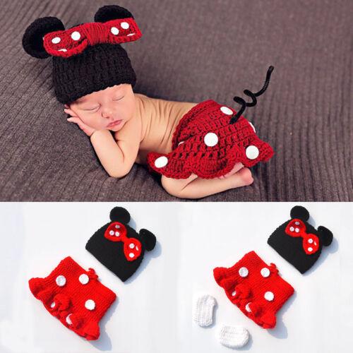 3pcs//sets Newborn Baby Girls Crochet Knit Costume Photo Photography Prop Outfits