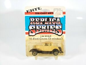 ERTL-Replica-Series-1932-5-Window-Ford-Coupe-1-64-Scale-New-w-Protecto