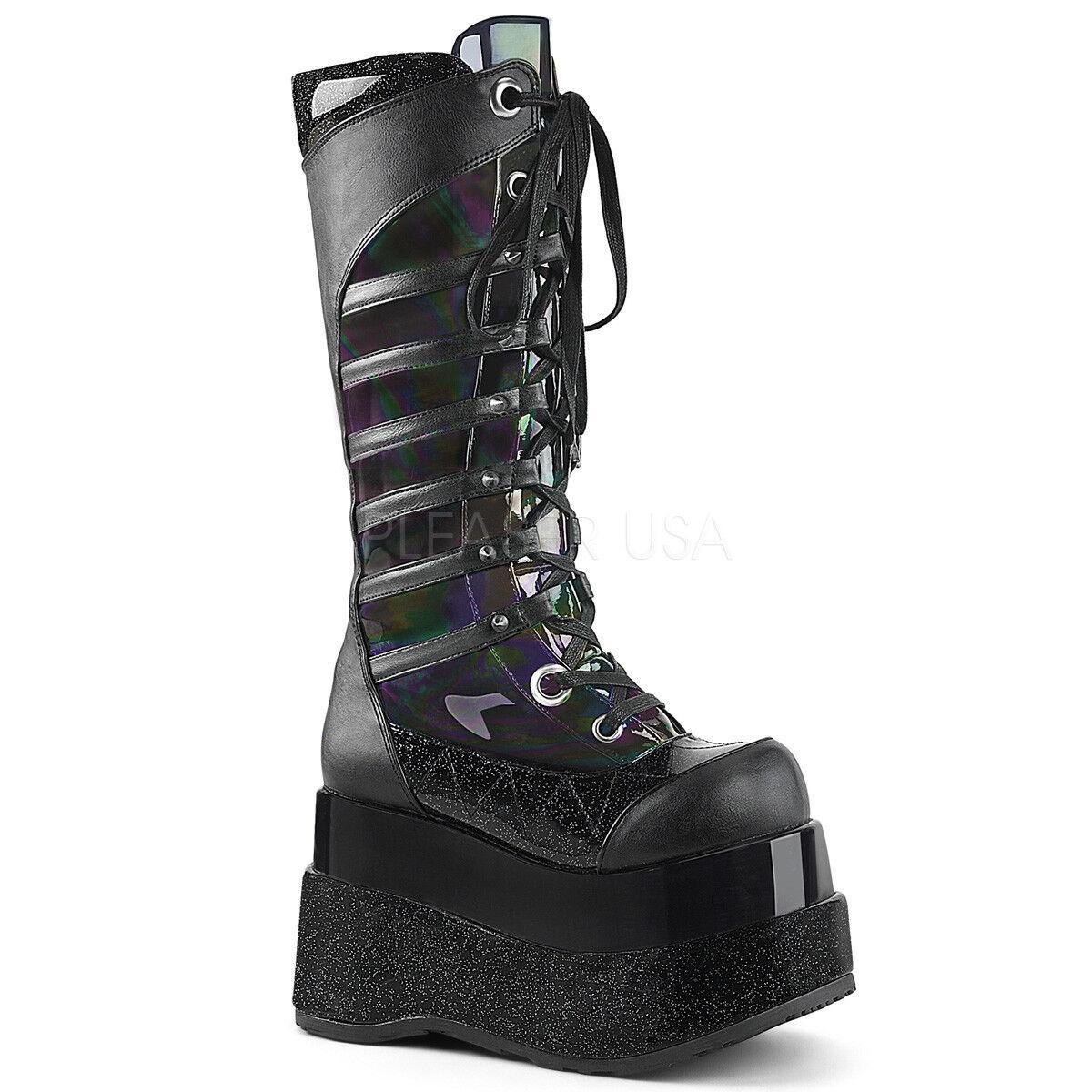Cuero para Mujer del Partido Tacones altos altos hasta hasta altos el Tobillo Botas Zapatos Bombas británico casuales c04d0e