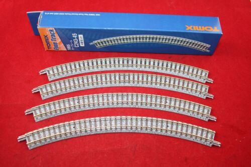 971855 fine Track Spur N 4 x curvo 45 ° R 243 mm legno soglia Tomix 1855