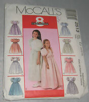 Girls Dresses Pattern 10 12 14 2513 8 Looks Included Mccall's