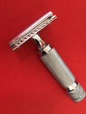 New Vintage Thick Handel  Safety Razor +double edge shaving blades shaver