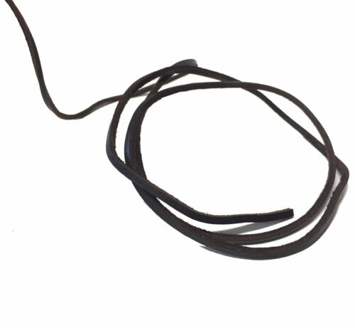 Dark Brown 3mm Square Thonging Cord Lace Jewellery Natural Leather String