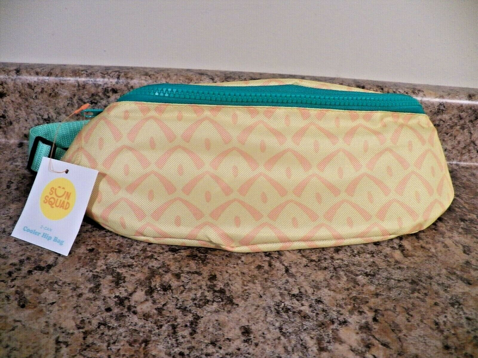 Sun Squad Pineapple 2 can Cooler Hip Bag Fanny Pack