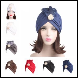 Muslim Hats Women Chemo Cancer Turban Hijab Indian Arab Wrap Caps ... 6334e6178ae5