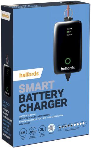 Halfords Car Battery Smart Charger For 12V Vehicles Up To 2.0L Start Stop