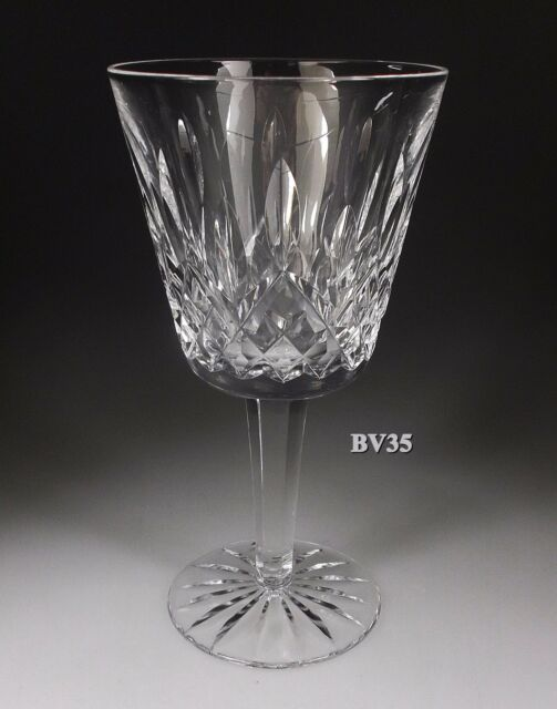 "WATERFORD CRYSTAL LISMORE CLARET WINE GOBLETS  5 7/8"" - EXCELLENT"
