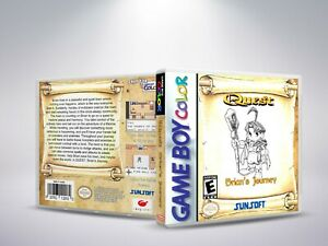 Quest-RPG-Brian-039-s-Journey-GBC-Replacement-Cover-Case-NO-Game