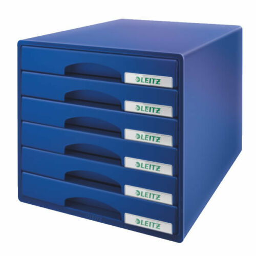 Schubladenbox LEITZ 5212 PLUS 5212-00-35 A4 Blau 6 Schubladen 270 x 287 x 363 mm