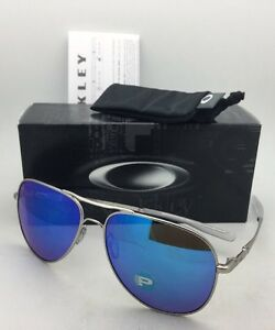 85960383ac Image is loading Polarized-OAKLEY-Sunglasses-ELMONT-L-OO4119-0760-Chrome-