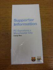12/03/2014 Manchester City: Barcelona v Manchester City [UEFA Champions League]