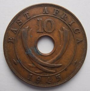 BRITISH EAST AFRICA 10 CENTS 1945 - Liverpool, United Kingdom - BRITISH EAST AFRICA 10 CENTS 1945 - Liverpool, United Kingdom
