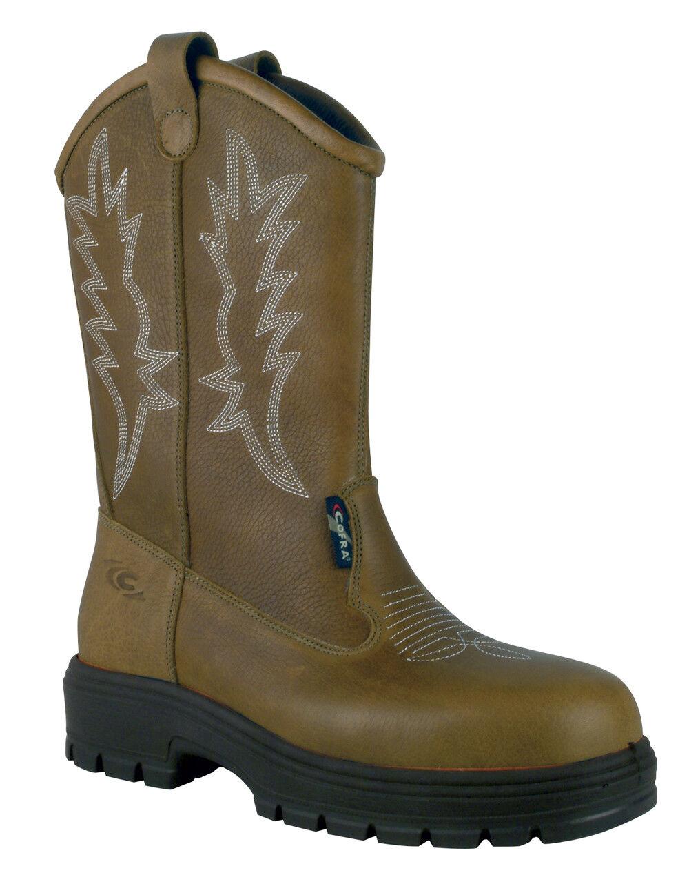 Nuevo Para hombres Cofra San Antonio tirar-en botas de seguridad occidentales-EE. UU. puede estándar de seguridad