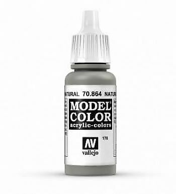 Vallejo Model Color 17ml Acrylic Paint - 864 Natural Steel
