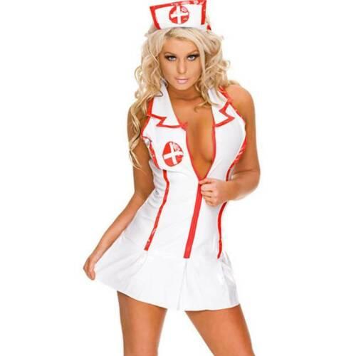 Women Lingerie Babydoll Nurse French Maid Uniform Nightwear Sleepwear Dress HOT