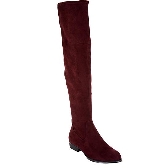 Isaac Mizrahi Live  Imitación Gamuza Sobre la Rodilla Rodilla Rodilla botas Burdeos Twain para mujeres 8W  barato y de moda
