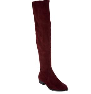 Isaac Mizrahi Live  Imitación Gamuza Sobre la Rodilla botas Burdeos Twain para mujeres 9.5W