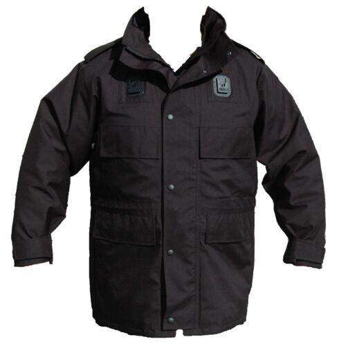 Ex Police Black 3//4 Goretex Waterproof Rain Coat Security BGC01A