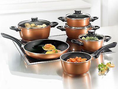 BEEM of Germany Supertherm anti-bacterial Ceramic Copper Metallic pots & pan set