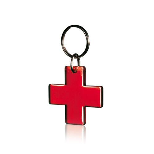 portachiavi a forma di CROCE ROSSA ambulanza sanità COLORE ROSSO TRASPARENTE