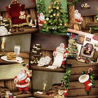Holiday Backgrounds: Christmas v1. Digital Photo Backdrops Photoshop Templates