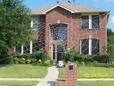 50' MEGA Web Rope Spider Web Giant Halloween House Yard Prop Decoration
